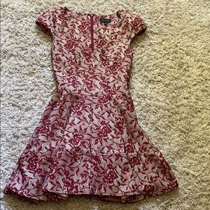 Red lace Topshop dress